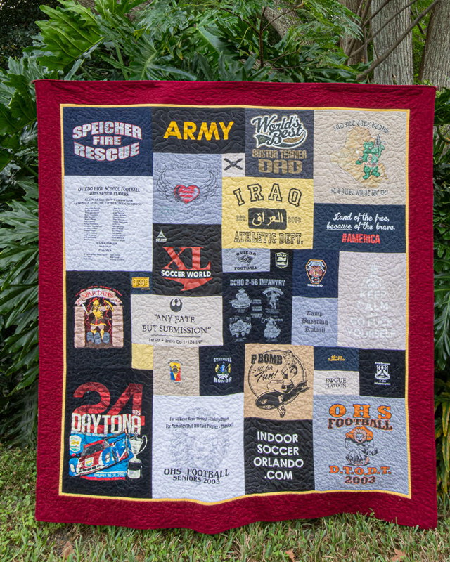 Military T-shirt Quilt
