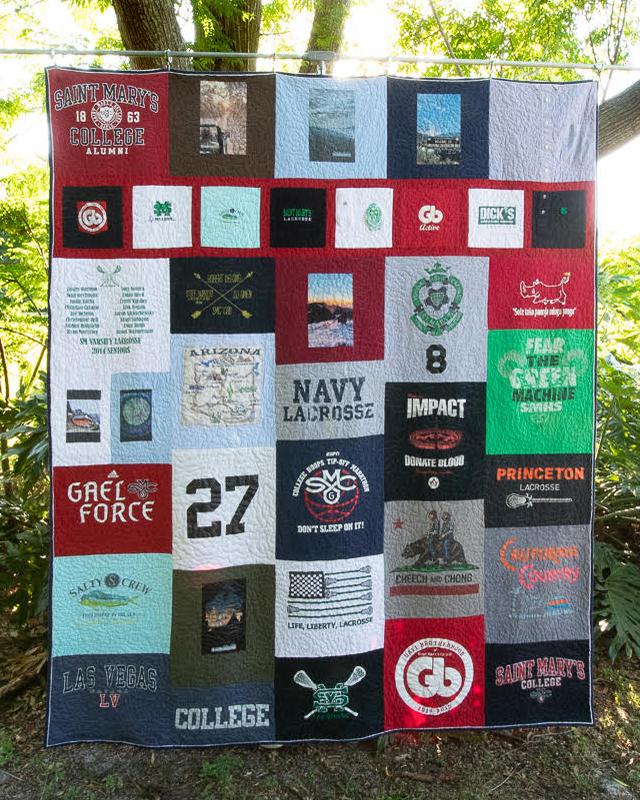 College Graduation T-Shirt Quilt