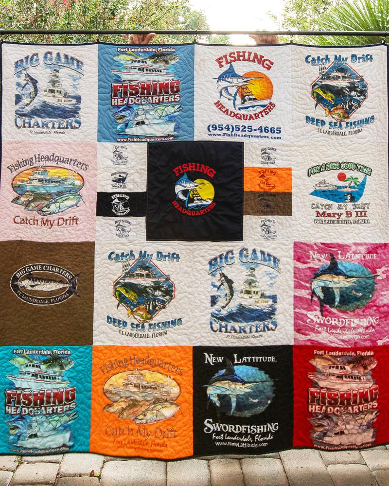 Fishing Headquarters T-Shirt Quilt