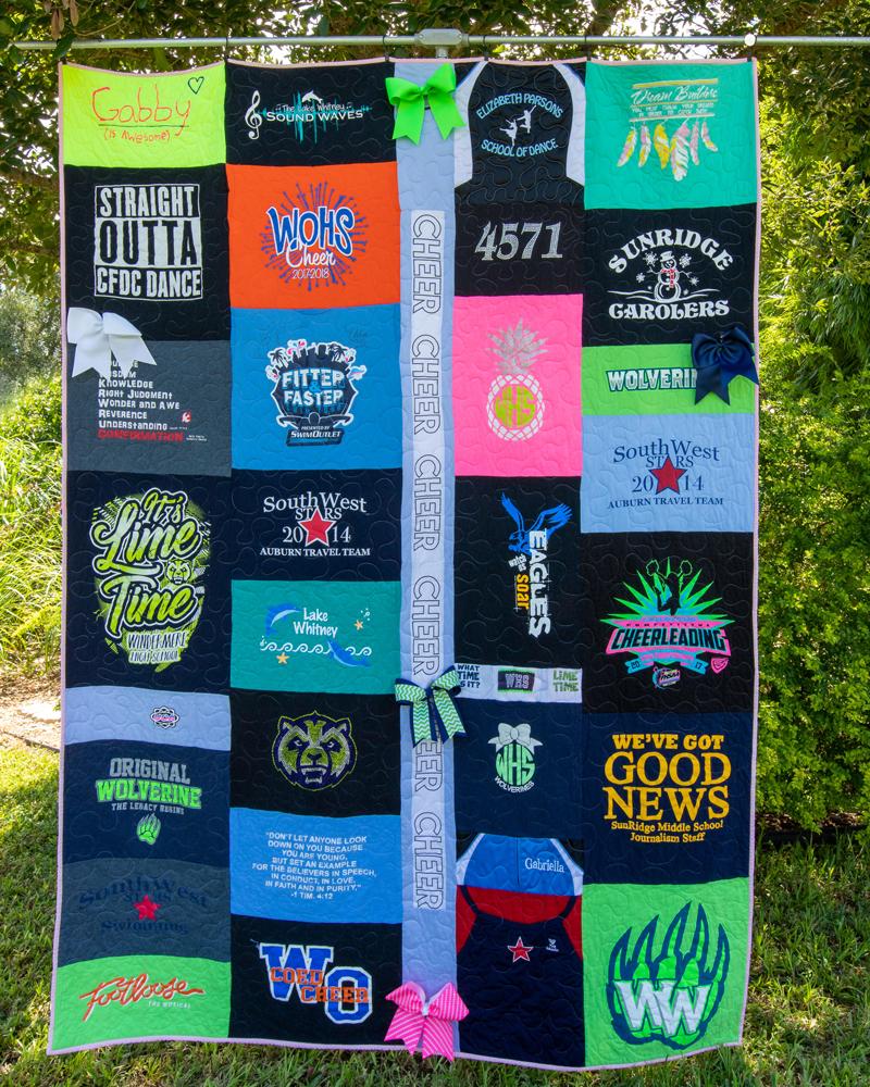 High School Graduation T-Shirt Quilt
