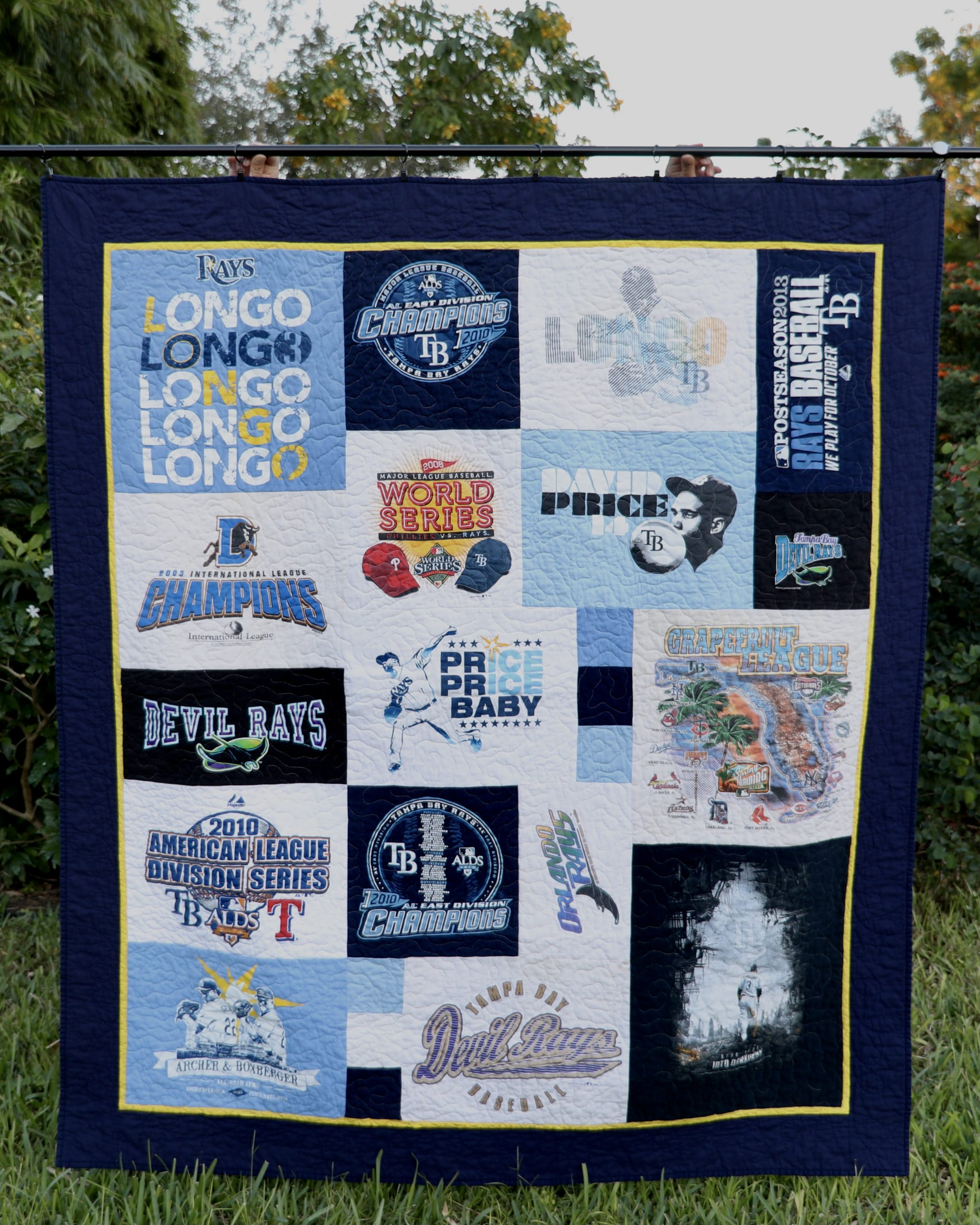 Tampa Bay Rays T-shirt Quilt