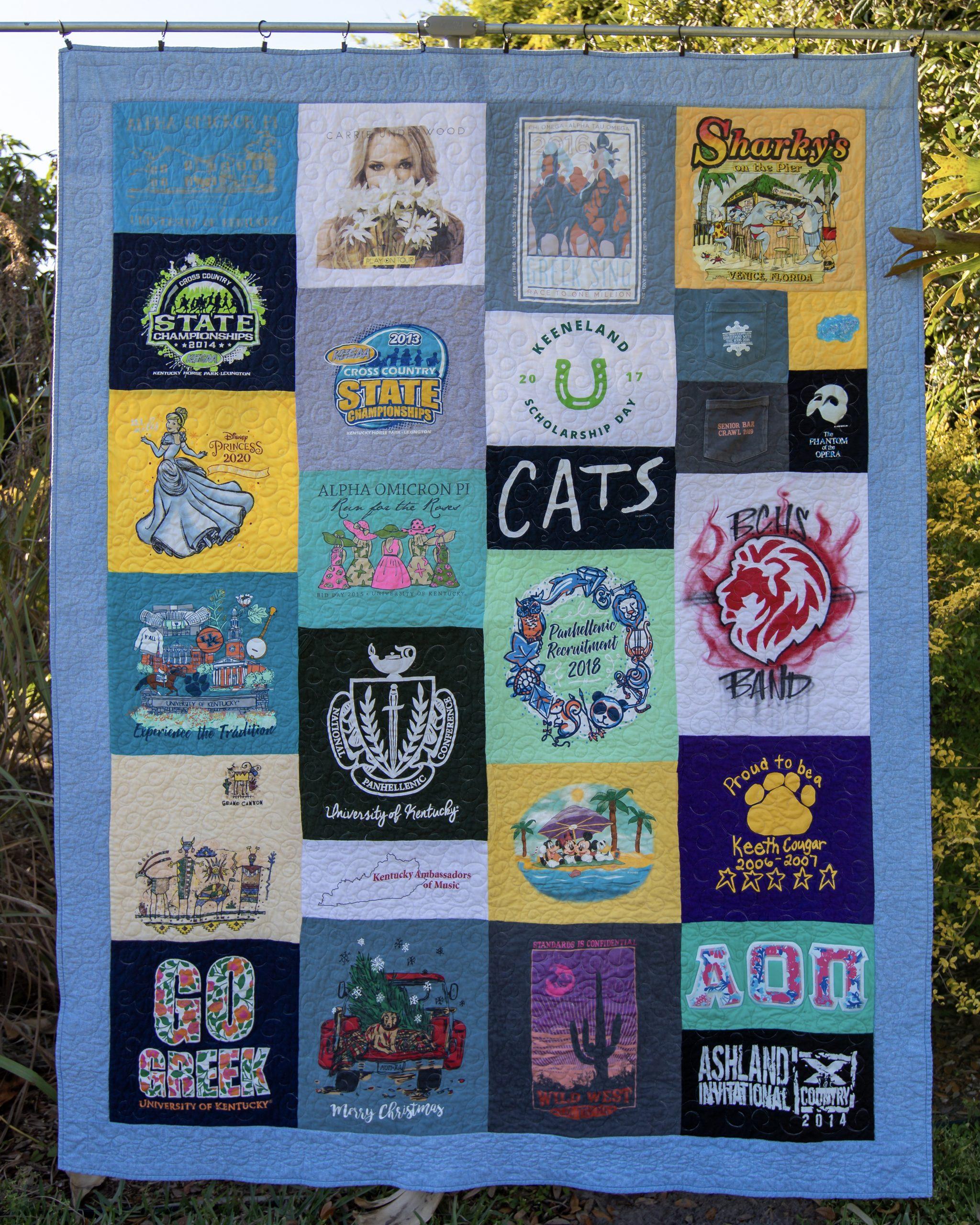 Elementary thru College T-shirt Quilt