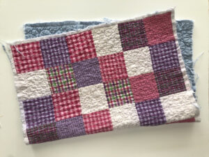 Quilt section for pillow sham