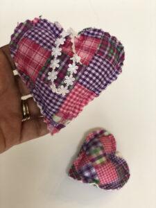 Lavender Hanging Sachet Quilt Heart