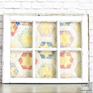 Cutter Quilt Antique window framing