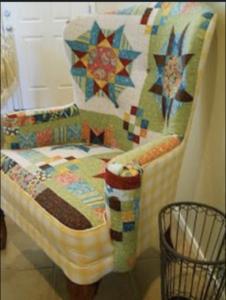 Cutter Quilt upholstered chair